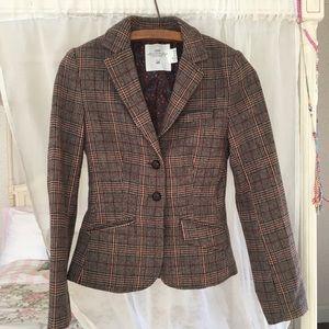 HM Tan Houndstooth Riding Blazer/Jacket Size 2